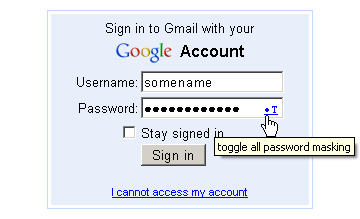 google login form with userscript