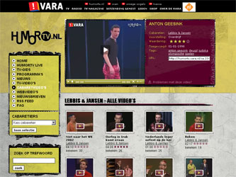 screenshot videopagina