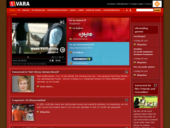 screenshot homepage vara.nl